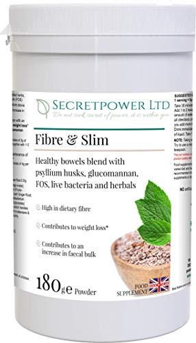 Fibre & Slim, high Dietary Fibre, Bulk and Weight Loss Blend, 189g Powder