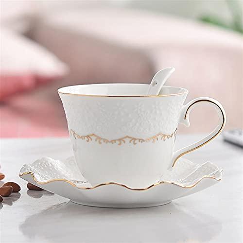QSCTYG Tazas Cafe Copa de cerámica y platillos Conjunto de café Taza de té Taza de café Sólido Copa de té de la Tarde 73 (Capacity : 101-200ml, Color : Style 3)