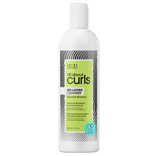 All About Curls No Lather Cleanser, Free of SLS SLES Sulfates, Silicones and Parabens, Color-Safe, 15-Ounce