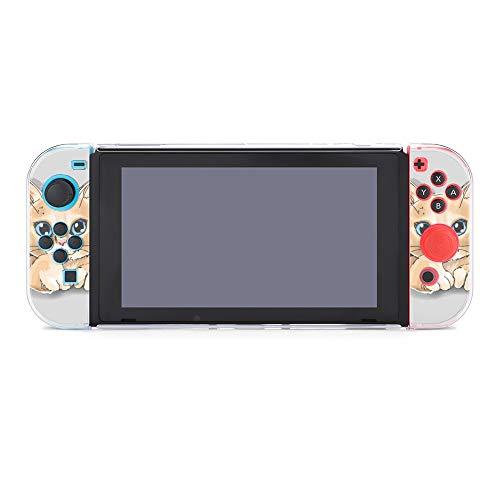 Schutzhülle für Nintendo Switch, niedliche Katze in gerissenem Papier, langlebige Schutzhülle für Nintendo Switch und Joy Con