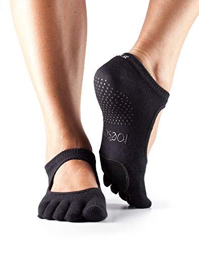 ToeSox Full Toe Plie Yoga-Socken, Unisex Erwachsene S Schwarz
