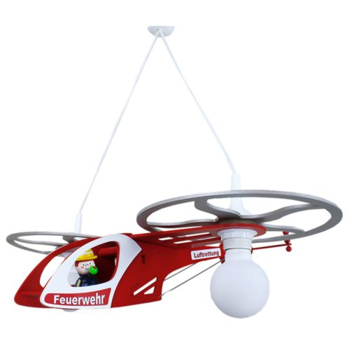 Elobra Pendelleuchte Feuerwehr Helikopter, 2 flammig ELO-128145