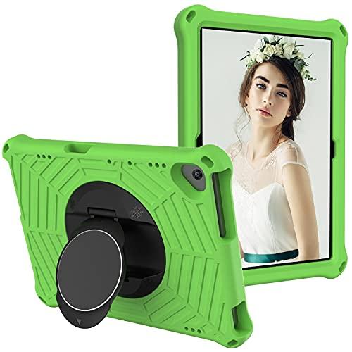 Funda para tablet Huawei Mediapad T5 10 (10,1 pulgadas), funda protectora para tablet de 10,1 pulgadas, con función giratoria y ligera, correa para el hombro (color verde)