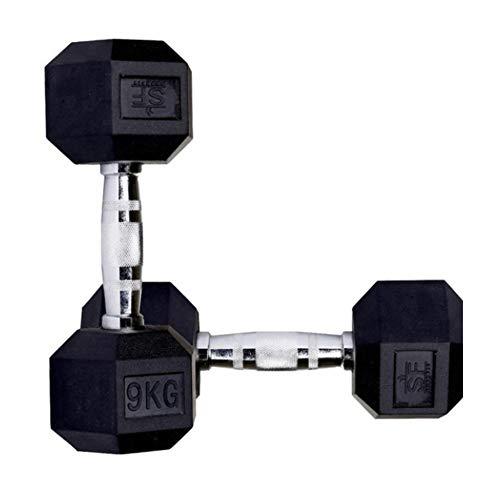 Suprfit Hex Kurzhantel - 50 kg Dumbbell, Gewicht: 1 x 50 kg, sechseckige Gewichte mit Gummibeschichtung, Rutschfester und ergonomischer Griff, Cross Training und Functional Training
