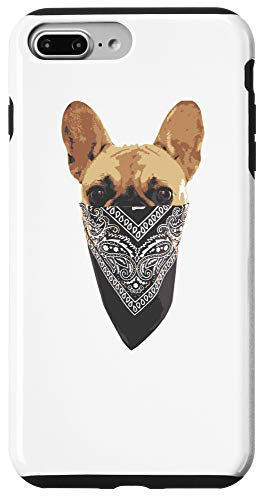 iPhone 7 Plus/8 Plus French Bull Most Wanted Rebel Frenchie With Mask Case
