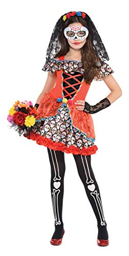 amscan Childs Sugar Skull Senorita Costume
