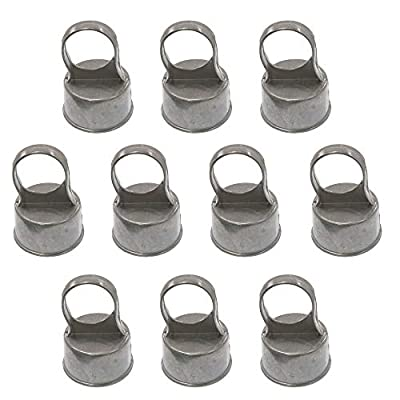 "Chain Link Fence Loop Caps | Eye Top Rail Cap | 2 1/2"" (Fits 2 3/8"" OD) x 1 5/8"" (Fits 1 5/8"" OD) Pack of 10"