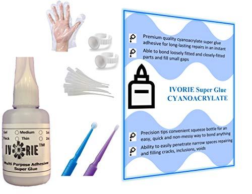 Ivorie Instant Bonding Glue Adhesive - Dental Lab (Thin - 1oz)