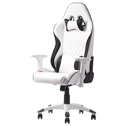 KFJCMY Racing Gaming Chair Office Computer Spielstuhl Ergonomische Rückenlehne und Sitzhöhe Anpassung Recliner Schwenkruhe mit Kopfstütze und Lendenkissen