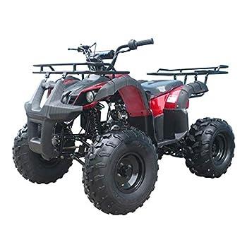 X-PRO 125cc ATV 4 Wheels Wheelers Quad 125 ATV Quads with LED Lights Big 19 /18 Tires! Burgundy