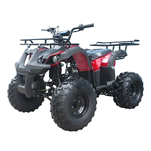 X-PRO 125cc ATV 4 Wheels Wheelers Quad 125 ATV Quads with LED Lights, Big 19'/18'Tires!(Burgundy)