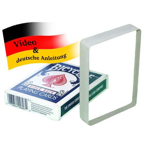 Crystal Clear Deck | Vanishing Card Block, Verschwindendes Kartenspiel | Ambitious Card Routine mit überraschendem Ende | Zaubertricks, Kartentricks und Zauberartikel | Pokerkarten-Trick
