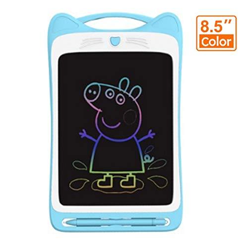 WANGCHAO Kids LCD Schrijven Tablet, 8,5 Inch LED Kleur Scherm Oppervlak Waterdicht met Memory Lock Digitale Handgeschreven Graffiti Children's, Blauw