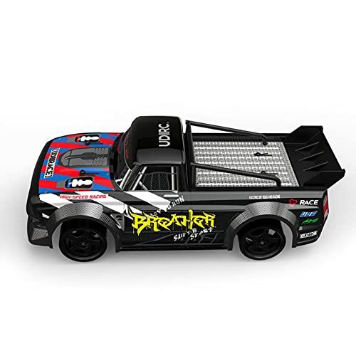 Ferngesteuertes Auto, 4WD RC Auto 60 km / h 1:16 Funkfernsteuerung Elektro Geländewagen 2,4 GHz RC Hochgeschwindigkeits-Drift-Rennwagen Offroad-Fernbedienung Spielzeug Geschenk für Kinder,JENCRL (B)