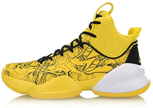 LI-NING Power Men Professional Basketball Shoes Lining Cushioning Athletic Sport Shoes Sneakers Yellow ABAR129-1H US 8