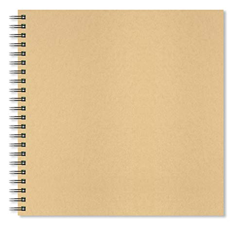 Artgecko Krafty Sketchbook 300x300mm Square 80 Pages (40 Sheets) 150gsm Acid Free White Cartridge Paper