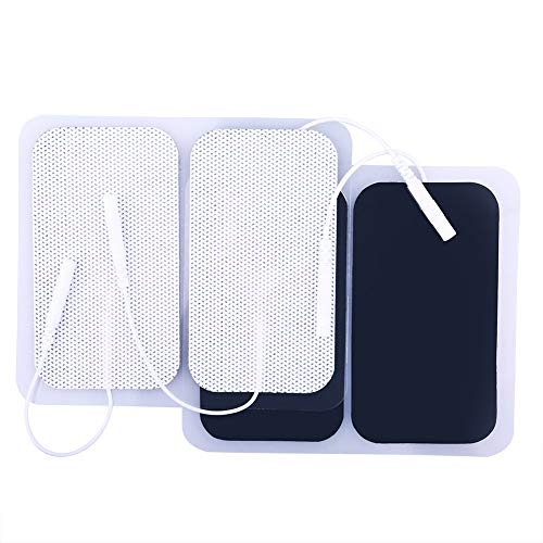 TENS Unit Pads, 40 Pcs 2x3.5 Inches TENS Unit Replacement Pads, Large Rectangular Electrodes Pads for Electrotherapy EMS Massager