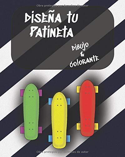 Diseña tu Patineta, dibujo & colorante: Crea tu propio mazo, amplia selección de plantillas de skate