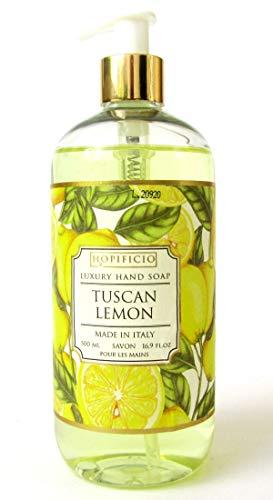 HOPIFICIO – Luxury Liquid Hand Soap: Hypoallergenic, Sulfate-free, Regenerating, Moisturizing & Gently Cleansing Liquid Soap, 16.9 Fl Oz (Tuscan Lemon)