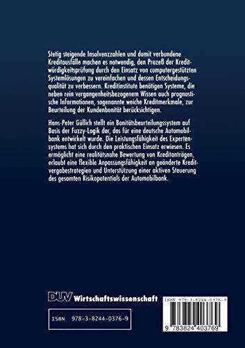Fuzzy-Expertensysteme zur Beurteilung von Kreditrisiken (DUV Wirtschaftswissenschaft) (German Edition)