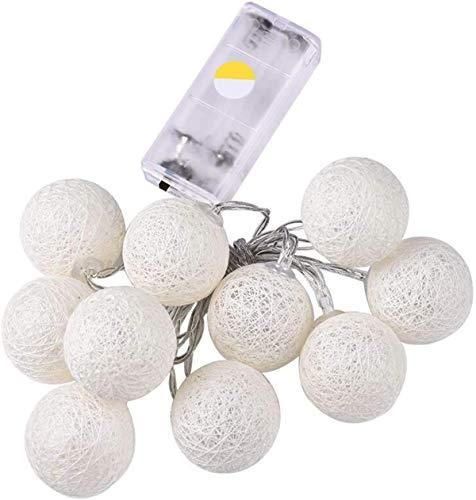 Led Bola de algodón cadena de luz de la linterna decorativas luces de cadena Gypsophila Luces de Navidad con 2 diferentes modos de iluminación interior y exterior a prueba de agua IP44 Modelos nivel d