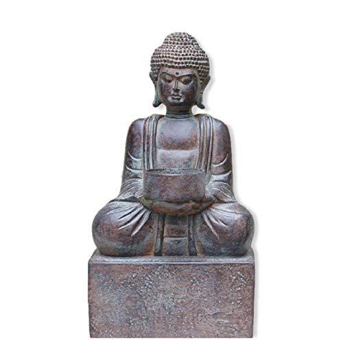 GIAO Vintage Buda Estatua Ornamento de jardín Escultura Shakymani Entrada Decoración Decoración de jardín al Aire Libre Decoración del Hogar Jardín Patio Adorno