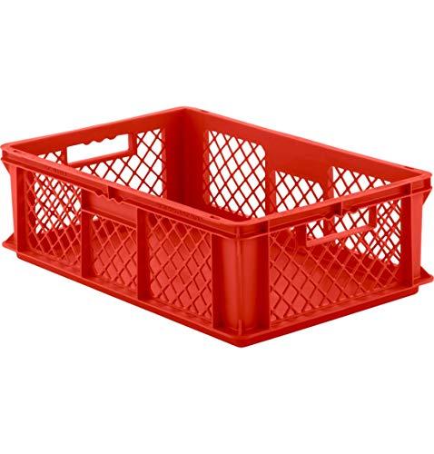 SSI Schäfer EF 6181 Eurokiste Kunststoffbox Transportbox offen ohne Deckel, 600x400 mm, 35,4 l, 20 Kg Tragkraft, Made in Germany, Grau
