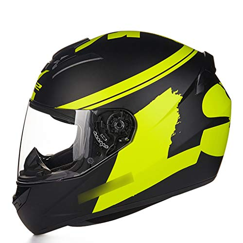 34GYP Hard hat Helmet Motorcycle Helmet Men and Women Four Seasons Universal Locomotive Anti-Fog Full Helmet Multi-Color Optional Gyp (Color : Green, Size : XL (56-57cm))