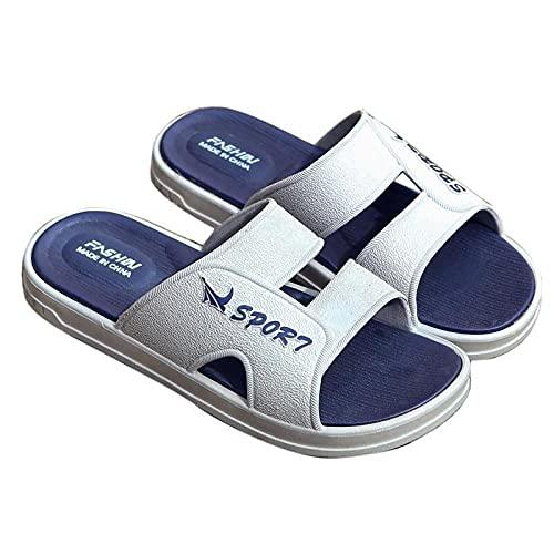 MLLM Piscina de Gimnasio Zapatillas,Zapatillas de Playa de Ocio para Hombre, Dear Dew Slip Shoes-Grey_39-40,Baño Sandalia Suela De Espuma
