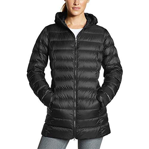 Eddie Bauer Women's CirrusLite 2.0 Down Parka, Black Regular M
