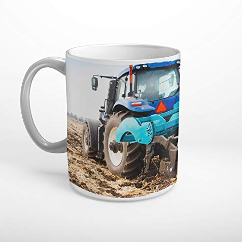 DesFoli Traktor Trecker Feld Pflug Landwirtschaft Tasse Spruch Motiv Fototasse Kaffeebecher T1203