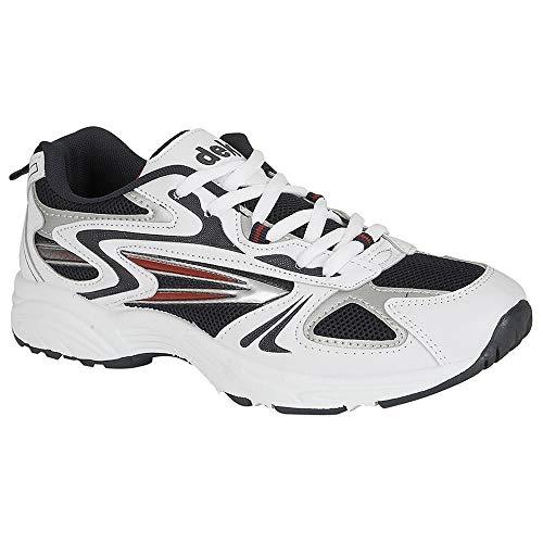Dek - Zapatillas deportivas con cordones Modelo Venus III hombre caballero (42 EU/Blanco/Gris/Marino)