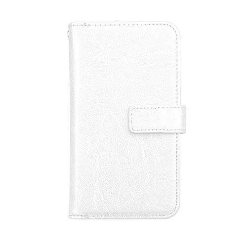 Bear Village® Huawei Nova 2 Hülle, Flip Leder Schutzhülle mit 9 Kartenfach und Magnetverschluss, Brieftasche Handyhülle für Huawei Nova 2, Weiß