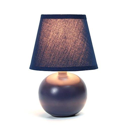 Simple Designs Home Simple Designs Mini globo de cerámica lámpara de mesa