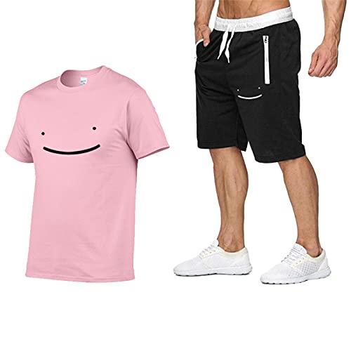 GIRLXV Camiseta Deportiva para Hombre Dreamwastaken Pantalones Cortos De Hip-Hop De Manga Corta Traje Casual De Cuello Redondo De Manga Corta para Hombre XXL