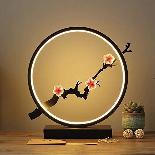 weichuang Lámpara de noche para mesita de noche, dormitorio, estudio, dormitorio, protección de ojos, luz nocturna, lámpara de mesa decorativa (Color emisor: control remoto, pantalla de la lámpara: E)