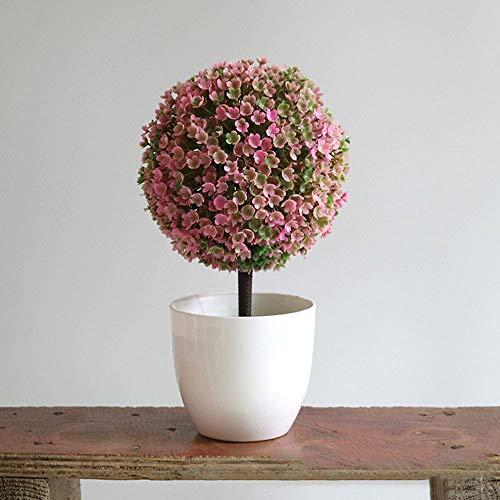 1 Piezas Ksnrang Plantas Artificiales Pl/ásticas Mini Hierba Verde Falsa Flor peque/ñas en Maceta para decoraci/ón del hogar o la Oficina
