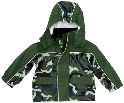 Playshoes Unisex - Baby Babybekleidung/ Regenbekleidung, Camouflage Regen-Mantel Camouflage 408552, Gr. 80, Grün (34 oliv)