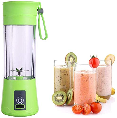 PULLEY-M Personal Blender Smoothies and Shakes, Single Serve Mini Blender, Mini Blender, with Six Blades, 4400mah USB Rechargeable M