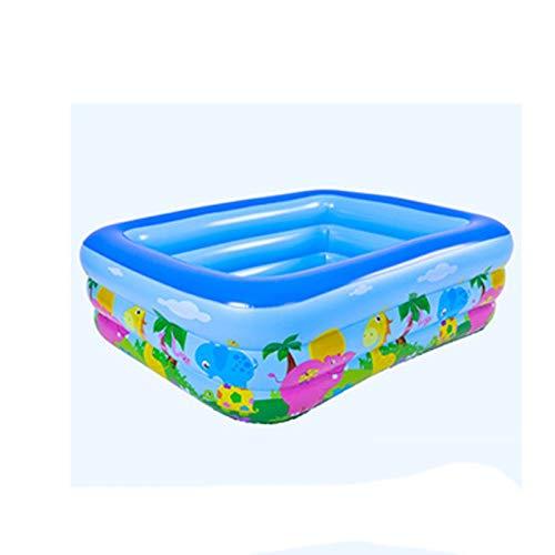 SPNEC NMKOP Aufblasbares Schwimmzentrum Family Lounge Pool Tierkinder Rechteckiger Ringpool Sommer-Wasserspielbecken für Kinder