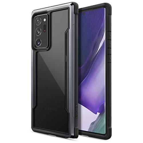 X-Doria Raptic Shield Funda para Samsung Galaxy Note 20 Ultra - Funda Protectora de policarbonato de Grado Militar, TPU y Aluminio anodizado para Samsung Galaxy Note 20 Ultra, Negro