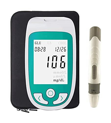 ghjkl 3 ën 1 Mëdidor Pruëbā Cholëstërol, Medidor de Prueba multifunción de Sangre Medidor de colesterol Ulic Ulic Sangre Glucose Meder Glucometer Kit Diabetes Tester Monitor