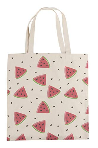 Reusable Grocery Bags - 3-Pack Tote Bags with Handles, 3 Different Fruit Designs, Durable Cotton Canvas Shopping Bags, 14.2 x 16.1 Inches