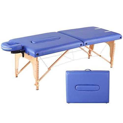 Asffdhley Tragbarer Massagetisch Tragbare Massage Tabelle 2 Abschnitt Leicht Faltbare Beauty Couch mit Kopfstütze Tragetasche und Kopfstütze Whirlpool (Color : Photo Color, Size : 186x70cm)