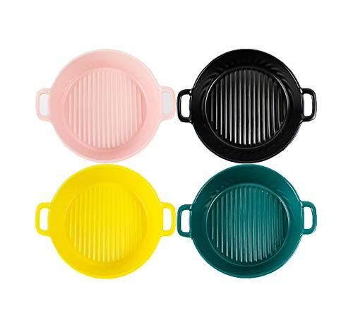 Utensilios para hornear de cerámica de color sólido para cocina, cocina, cena de pastel y uso diario juego de 4 piezas