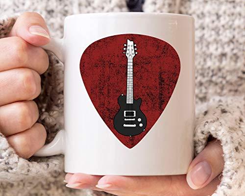 Taza de café para guitarra y guitarra eléctrica, para músicos, 325 ml,...