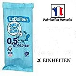Lot de 20 Ethylotest (Norme NF)