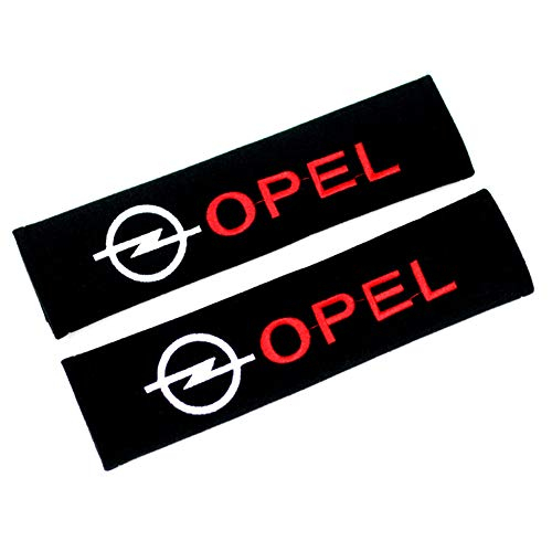 SXRKRZLB 2 StüCk Auto SicherheitsgurtbezüGe Schulterkomfort Pad Sicherheitsgurte FüR Opel Zafira B Corsa D Insignia Mokka Regal