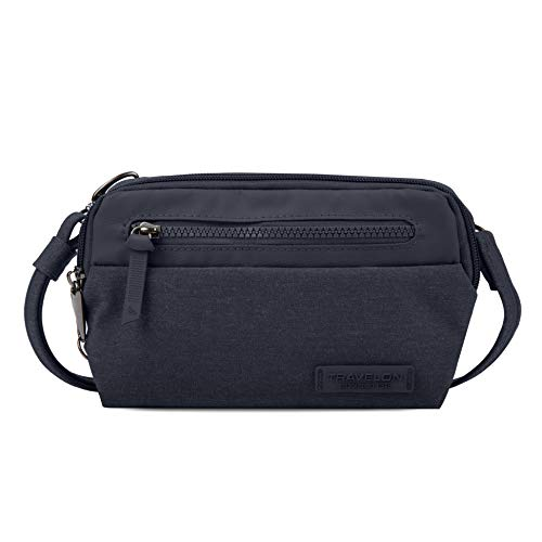 Travelon: Borsa a tracolla convertibile Metro antifurto - Navy Heather