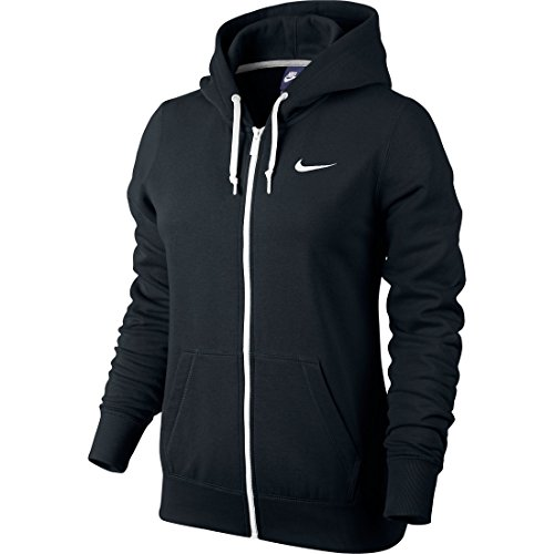 Nike Herren, Kapuzenpullover mit durchgehendem Reißverschluss, Schwarz, M